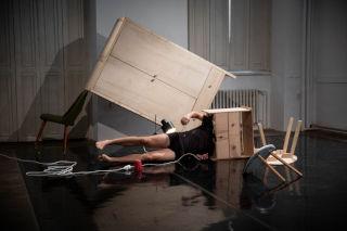 Obývací pokoj, zkoušení v CED, Terén, Brno, foto: Adam Holubovský